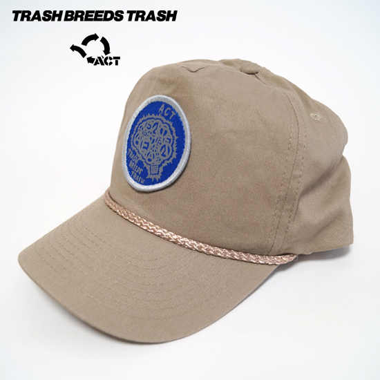 BRAIN ワッペンキャップ - TRASH BREEEDS TRASH x ACT -