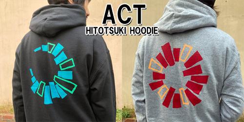 HITOTSUKI フードパーカー [ACT] 入荷!!