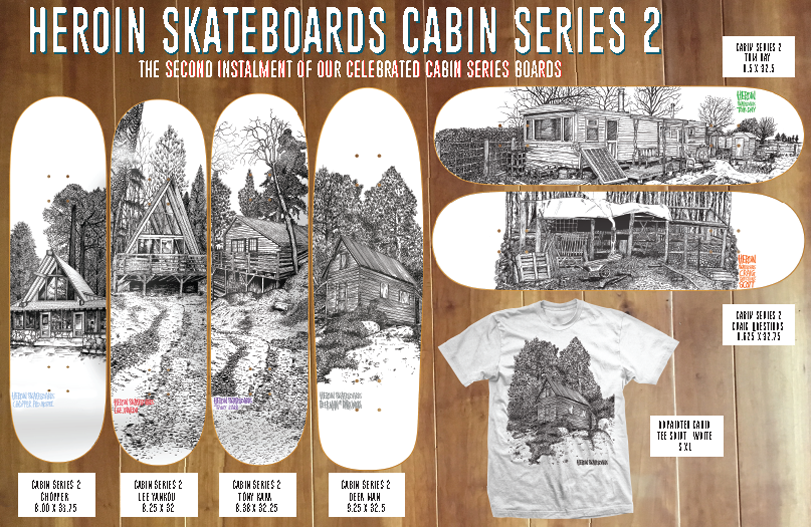 CHOPPER CABIN 2 DECK 8.12 [HEROIN SKATEBOARDS]