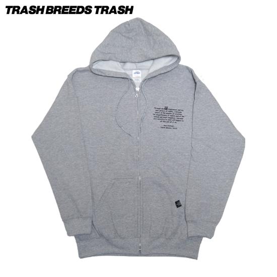 SK8ホフマンZIPフードパーカー[TRASH BREEDS TRASH]